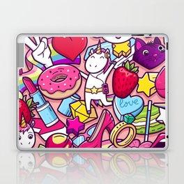 Girl Funky Clipart Laptop & iPad Skin