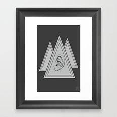Secret Society Framed Art Print