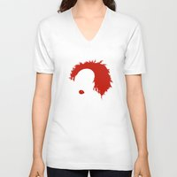 pennywise V-neck T-shirts featuring Pennywise by KlatuCorp