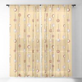 Cake Pop Parade - Yellow Sheer Curtain