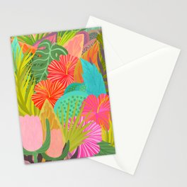 Saturated Tropical Plants and Flowers Stationery Cards