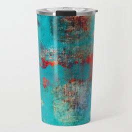 Aztec Turquoise Stone Abstract Texture Design Art Travel Mug