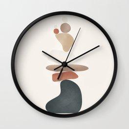 Balancing Stones 27 Wall Clock
