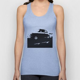 Fiat 500 classic, Black on Cream Unisex Tank Top