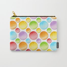Rainbow Polka Dots Carry-All Pouch