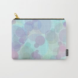 Blue Bubbles Patterned Carry-All Pouch