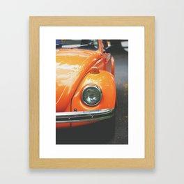 Orange VW Bug Framed Art Print
