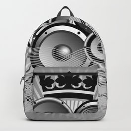 Abstract music illustration with wings Backpack