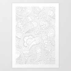 Ghostly Paisley: Dust to Dust Art Print