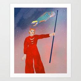 Koinobori magic Art Print