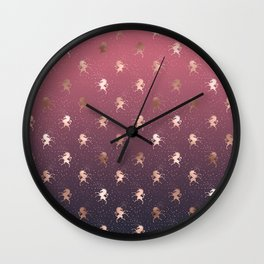 Modern Home Ombre Gold Unicorn Pattern Wall Clock
