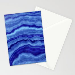 Cerulean Blue Agate Abstract 01 Stationery Cards