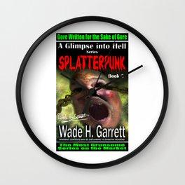 """Splatterpunk"" book cover art with signature Wall Clock"