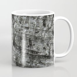Gouged Stainless Texture Coffee Mug