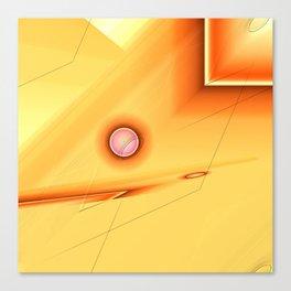 Geometric abstract orange no. 1 Canvas Print