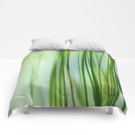 Vertical Grasses Comforters