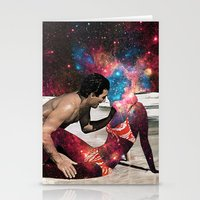 eugenia loli Stationery Cards featuring Kundalini by Eugenia Loli