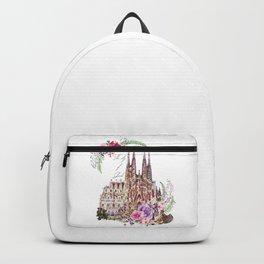 Barcelona Spain La Sagrada Familia Vintage Backpack