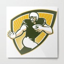 American Football Running Back Shield Metal Print