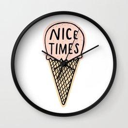 Nice Times Ice Cream Wall Clock