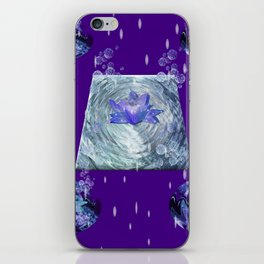 Water Lily Rain iPhone Skin