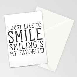 Smiling's My Favorite - Buddy The Elf, Christmas Movie Quote Stationery Cards