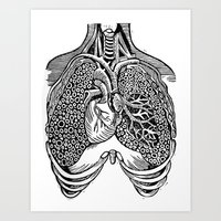 lungs Art Prints featuring Lungs by Orange Blood Gallery