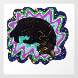 Cat-Nipped Art Print