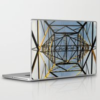 the wire Laptop & iPad Skins featuring Metal Wire by Lia Bernini