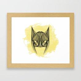 Bat Mask Framed Art Print