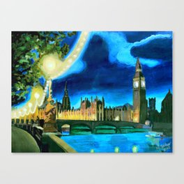 Houses of Parliament and Big Ben at Night Canvas Print