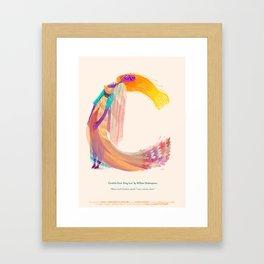 C for Cordelia, King Lear Framed Art Print