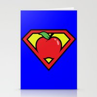 teacher Stationery Cards featuring Super Teacher by David Rodriguez Jr