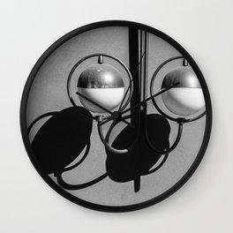 Black and White Streetlamp Shadow Play Wall Clock