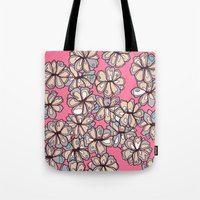 sarah paulson Tote Bags featuring Sarah by Ellie And Ada
