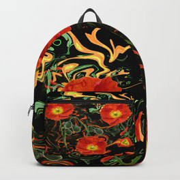 Poppies with abstract Backpack