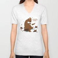 Brown Bear Blues Unisex V-Neck