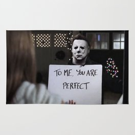 Michael Myers in Love Actually Rug