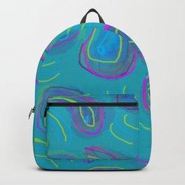 Purple Paisley on Teal Backpack