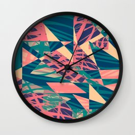 Jagged palms Wall Clock