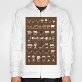 Coffee Types Cup Poster Chart Flavor Guide Hoody