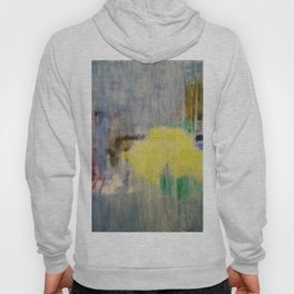 Rainy Day Grey, Rain, Water, Car, Abstract, Blue, Painting by Jodi Tomer Hoody