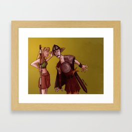 Being Mighty All Day Long Framed Art Print