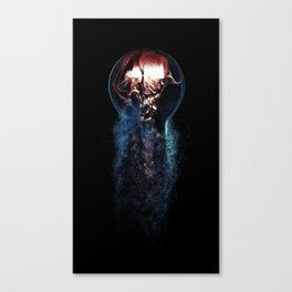 Burning Bulb - Tesla Smoke Trail Canvas Print