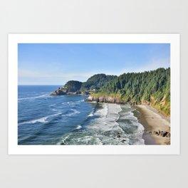 Beautiful day on the Oregon Coast. Art Print