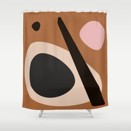 abstract brown Shower Curtain