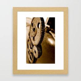 Metal Gears Welded Framed Art Print