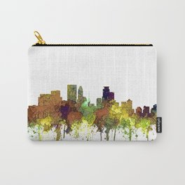 Minneapolis, Minnesota Skyline SG - Safari Buff Carry-All Pouch