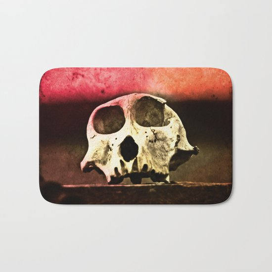 Baboon Skull Sunset Bath Mat