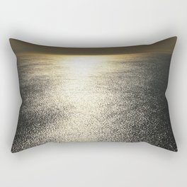 Golden Silence Rectangular Pillow